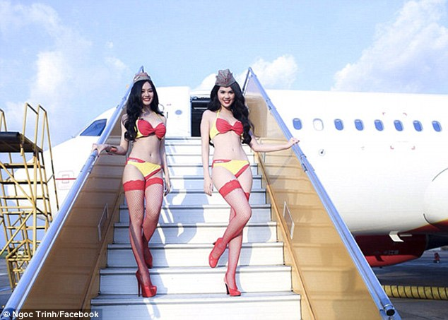 Bikini-clad Flight Attendants Prove a hit in Vietnam
